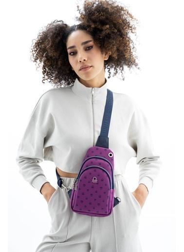 Benetton Messenger / Askılı Çanta Mürdüm